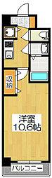アール京都グレイス[305号室]の間取り