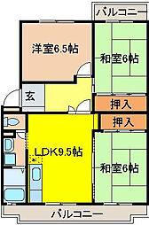 ソシアAOYAMA(青山)[4階]の間取り