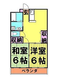 ワイズ[2階]の間取り