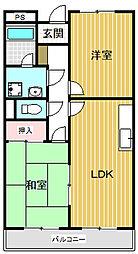 リンピアハピネス(丹波島)[201号室号室]の間取り