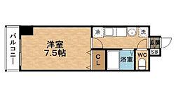 梅田エクセルハイツ[7階]の間取り