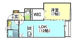 エクセレンス B棟[102号室号室]の間取り