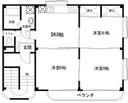 Cosmos Tsukuba[201号室]の間取り