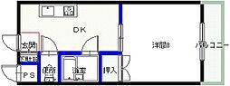 シャンクレール小桜[105号室号室]の間取り