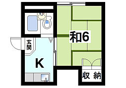 奈良県奈良市後藤町の賃貸アパートの間取り