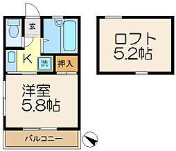 第一YMハイツ[2階]の間取り