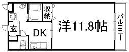 京都府京都市下京区西七条西石ケ坪町の賃貸マンションの間取り