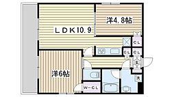 東京都北区西ケ原2丁目の賃貸マンションの間取り
