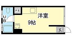 兵庫県神戸市兵庫区松原通3丁目の賃貸マンションの間取り