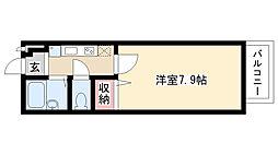 愛知県名古屋市天白区八幡山の賃貸アパートの間取り