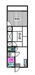 コーポ藤川[105号室]の間取り