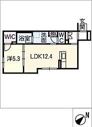仮)シャーメゾン豊田市吉原町 1階1SLDKの間取り