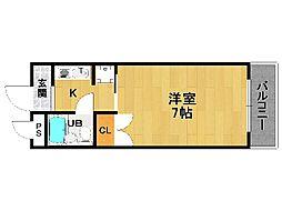 アミューズ21[3階]の間取り