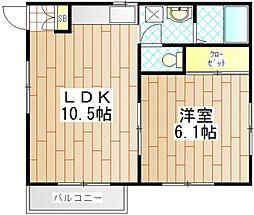 エステート渋谷[1階]の間取り