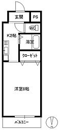 田中興産第11ビル[807号室]の間取り