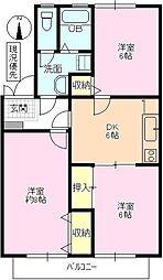 長野県長野市青木島1丁目の賃貸アパートの間取り