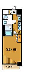 東京都小金井市本町の賃貸マンションの間取り