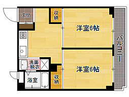 福岡県福岡市博多区吉塚8丁目の賃貸マンションの間取り