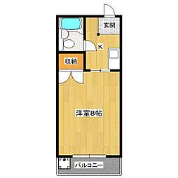 オレンジハイツ太田[202号室]の間取り