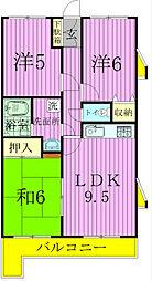 モンシャトー松戸[405号室]の間取り