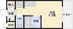 タクティ三郷[6階]の間取り
