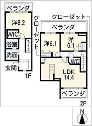 メゾネットミユキ(WN)[2階]の間取り