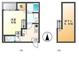 仮)呼続3丁目2 A・SKHコーポ[1階]の間取り
