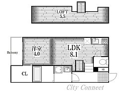 シャイニングレイ[2階]の間取り