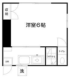寿荘[101号室]の間取り