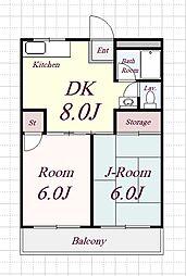 レガシィハイツ[2階]の間取り