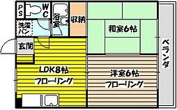 メゾンササキII[203号室]の間取り