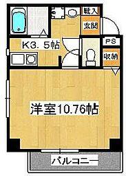 サラスバティ・辻井[303号室]の間取り