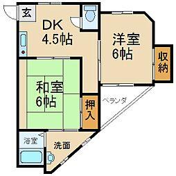 リカレントドゥエリング香里園[2階]の間取り