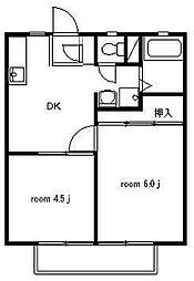 サンライフ辻堂[102号室号室]の間取り