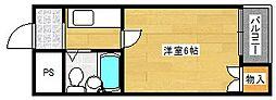 ラフォーレ千本南[2階]の間取り