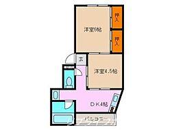 平野マンション[3階]の間取り