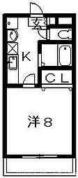 フレンチェスデン[3階]の間取り