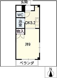 レジデンス川名山[2階]の間取り