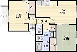 エトワールコート A棟[2階]の間取り