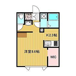 Lulu HouseII 1階1Kの間取り