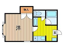埼玉県さいたま市浦和区領家5丁目の賃貸アパートの間取り