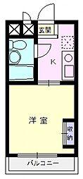 エマーユ川越脇田[306号室]の間取り