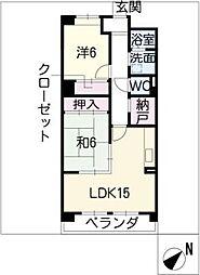 サニーコート勝川東[3階]の間取り
