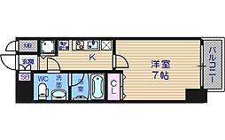 LAV心斎橋WEST[12階]の間取り