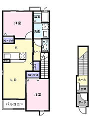 ヴィラK&K III[2階]の間取り