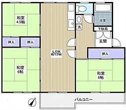 習志野台団地12街区9号棟[1階]の間取り