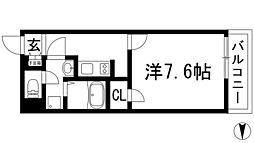 大阪府池田市石橋4丁目の賃貸マンションの間取り