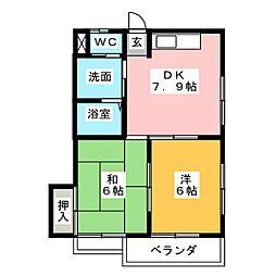 コーポチカ[2階]の間取り