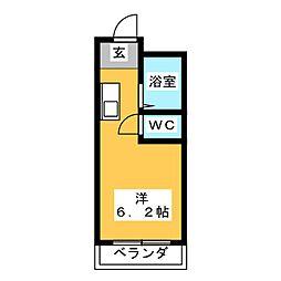 プチマンション江南[2階]の間取り