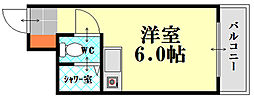 NODACO宇品神田[406号室]の間取り